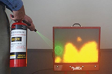 Formation sécurité incendie CNFCE - extincteur laser