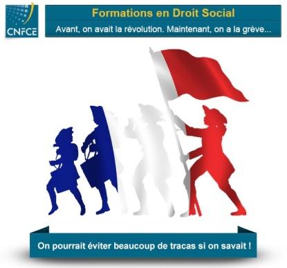 Formation droit social avec le Centre National de la Formation.