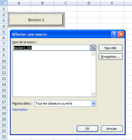 Comment effectuer une macro avec un bouton formulaire ou commande?
